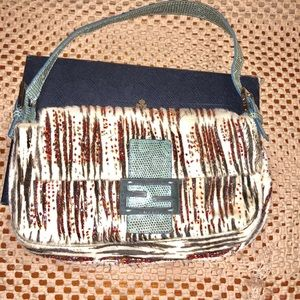 AUTHENTIC Fendi Pony hair Baguette with Beading👉
